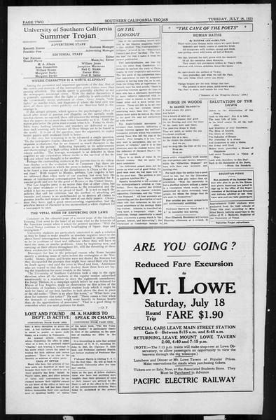 The Southern California Trojan, Vol. 4, No. 5, July 14, 1925