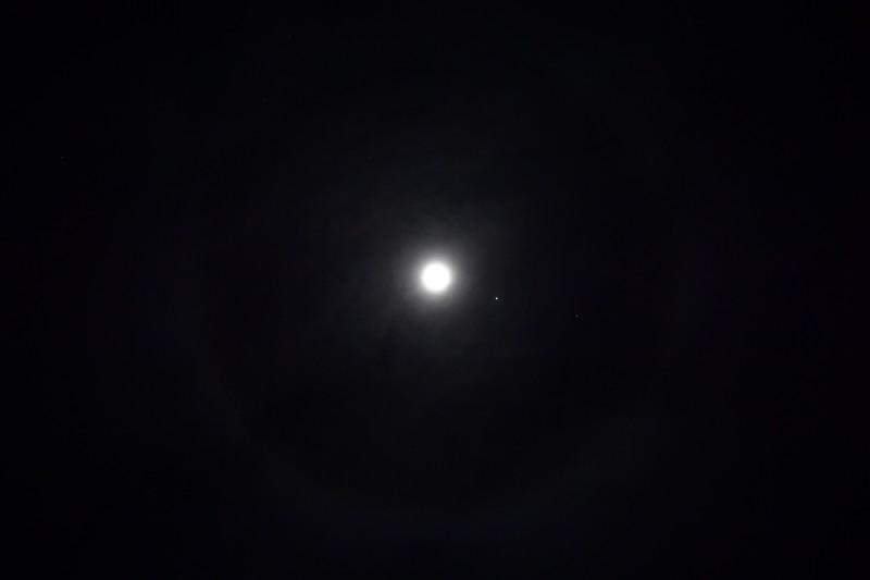 moon and saturn and jupiter