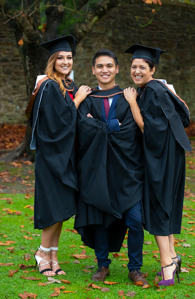 01/11/2019. Waterford Institute of Technology (WIT) Conferring Ceremonies. Pictured are Ciara Power Tramore, Fritz Santos Waterford City, Judy O'Brien Kilmeaden. Picture: Patrick Browne