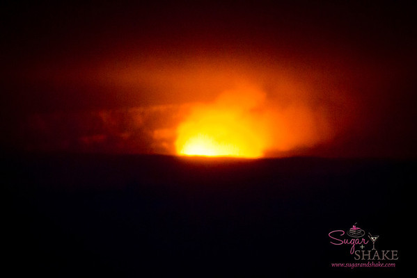 Halema'uma'u Crater, Kīlauea Volcano summit. Night. © 2012 Sugar + Shake