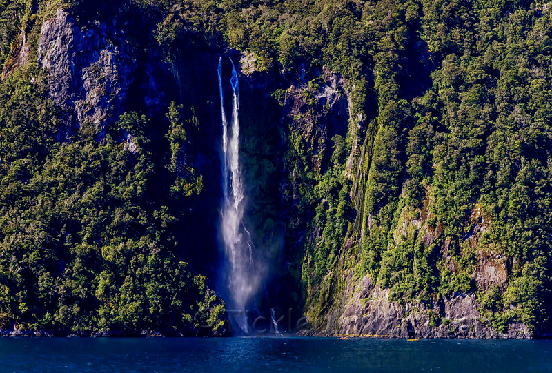 Kayakers below Sterling Falls