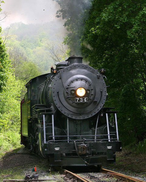 #734 steam train Western Maryland Scenic Railroad