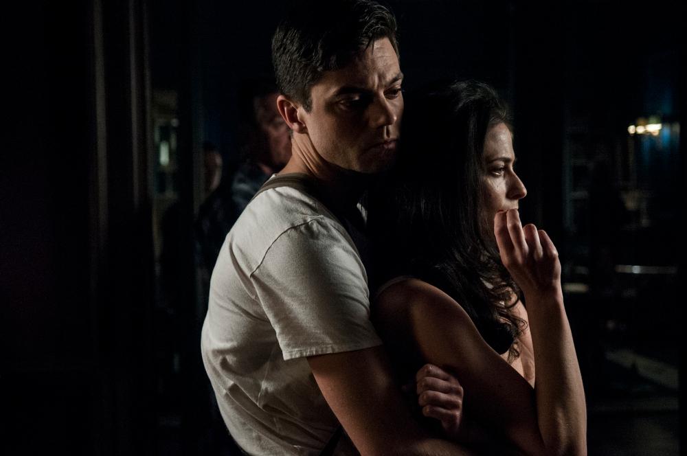 . Dominic Cooper as Ian Fleming and Lara Pulver as Ann O�Neill. (Photo by Vermes Kata)