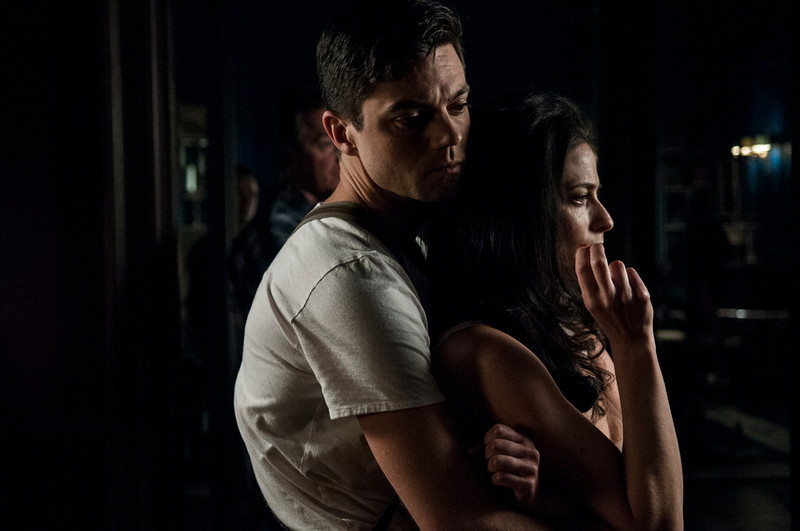 . Dominic Cooper as Ian Fleming and Lara Pulver as Ann O�Neill. (Photo by Vermes Kata)