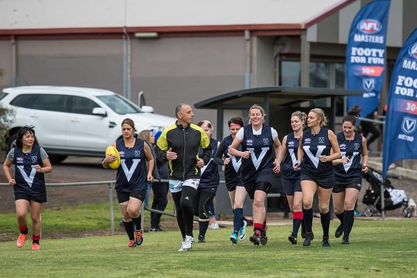 Mordialloc v Box Hill North - 2018 Monarch Women's AFL Masters Victorian Metropolitan Superules Round 1 Game 3