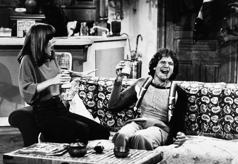 . Actor Robin Williams and Actress Pam Dawber on the set of ABCs Mork and Mindy, Jan., 1979. (AP Photo/ABC)