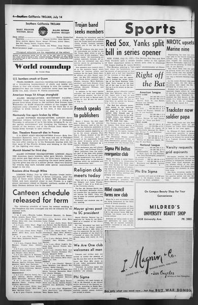 The Trojan, Vol. 35, No. 137, July 14, 1944