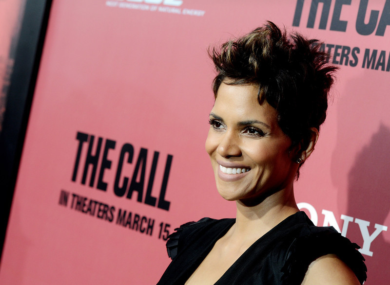 ". Actress Halle Berry arrives at the premiere of Tri Star Pictures\' ""The Call\"" at the Arclight Theatre on March 5, 2013 in Los Angeles, California.  (Photo by Kevin Winter/Getty Images)"