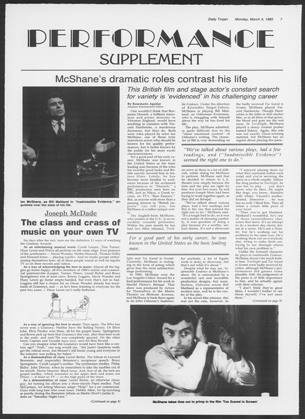 Daily Trojan, Vol. 98, No. 35, March 04, 1985
