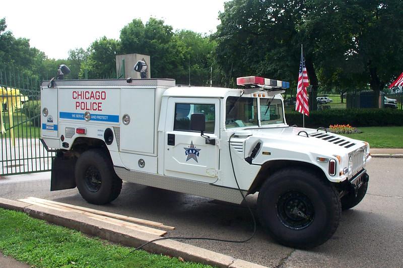 Chicago Police humvee