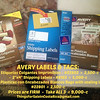 "AVERY - Etiquetas Colgantes Imprimibles - #22802  =  $15<br /> 2""x4"" Shipping Labels - #8163  =  $5<br /> Bolsas Plasticas con Encabezados Blancos Bags with sealing labels - #22801  =  $15<br /> Take ALL for $30"