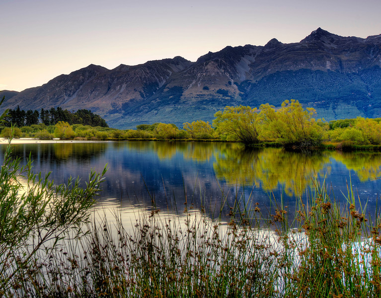Glenorchy Lagoon from the walkway.