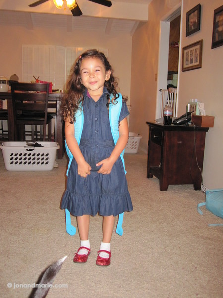 8/31 - Twiggy's first day of kindergarten