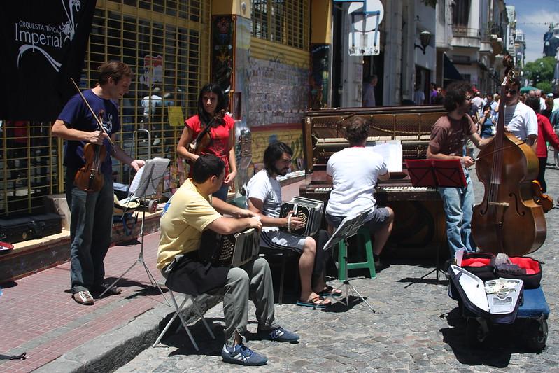 Sunday market in San Telmo