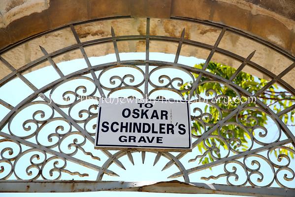 ISRAEL, Jerusalem, Mount Zion. Oskar Schindler's grave (9.2014)