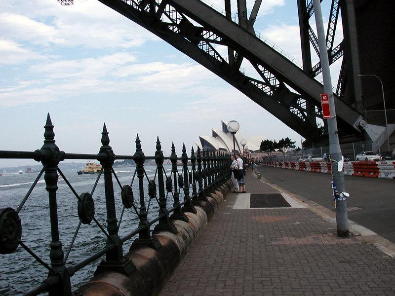 45. Path Under Sydney Harbor Bridge.JPG