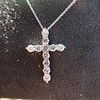 3.24ctw Round Brilliant Diamond Cross 15