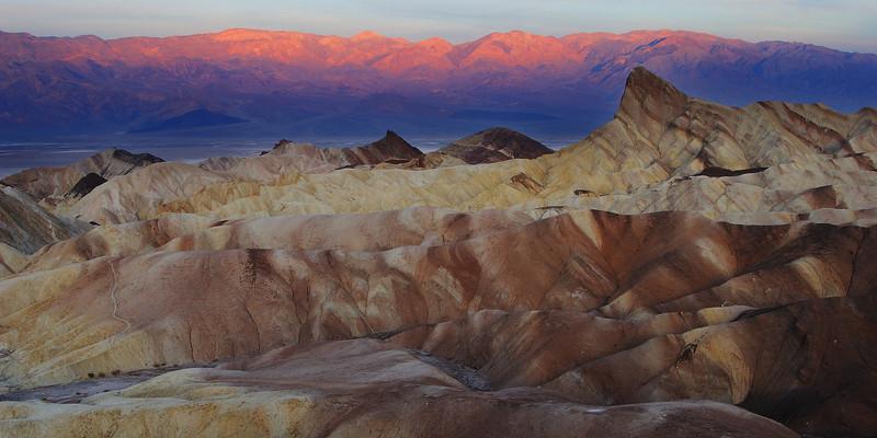 Dawn over Zabriskie Point Death Valley National Park California