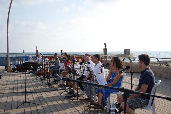 קבלת שבת בנמל תל אביב עם פרד ג'ונסון