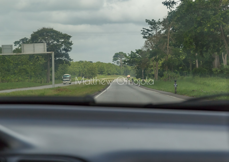 Highway in Cote d'Ivoire, Ivory Coast, Bus transportation in Ivory Coast,
