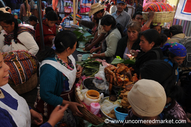 Snack Time at San Francisco El Alto Market, Guatemala