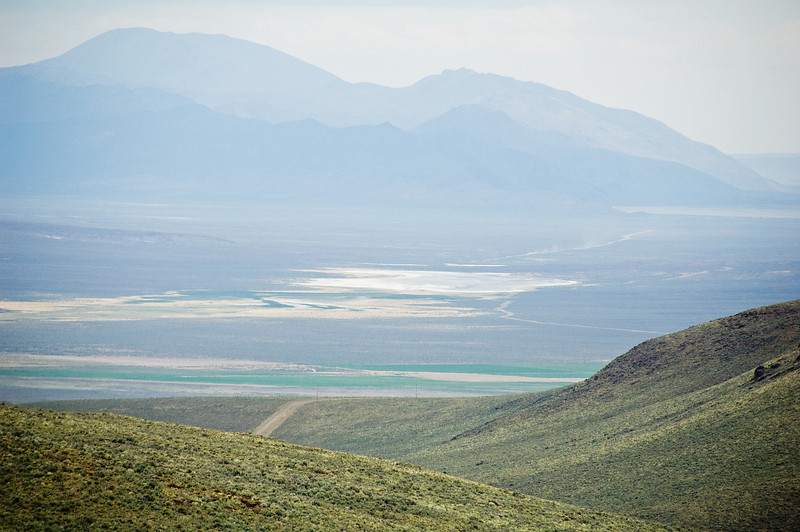 Looking North into the Alvord desert.
