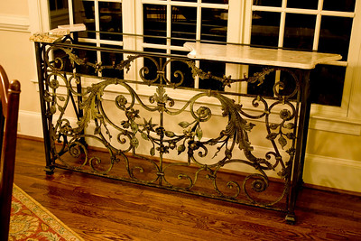 balcony rail console table