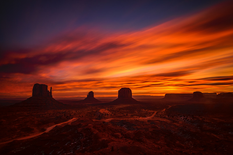 Long Exposure Sunrise, Monument Valley Navajo Tribal Park, Arizona