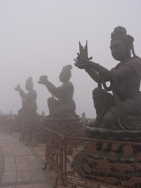 Buddah in the mist