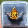 3.00ct Yellow Orange Sapphire Solitaire 31