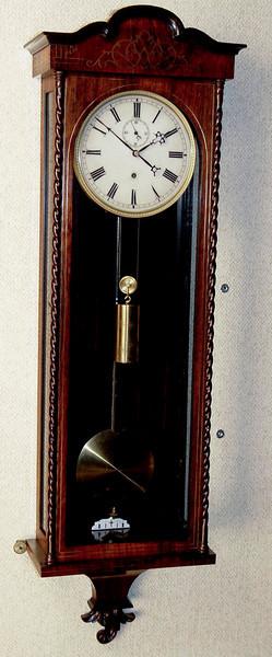 VR-327 - Inlaid Biedermeier Vienna Regulator Timepiece