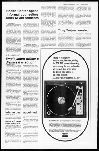 Daily Trojan, Vol. 65, No. 34, November 07, 1972