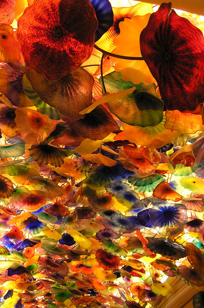 The ceiling in Bellagio's lobby