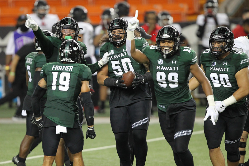 Hawaii Finishes COVID-Shortened Regular Season With 38-21 Victory Over UNLV on December 12, 2020