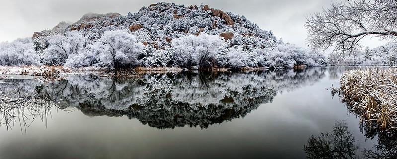 Morning Snow at Granite Basin Lake