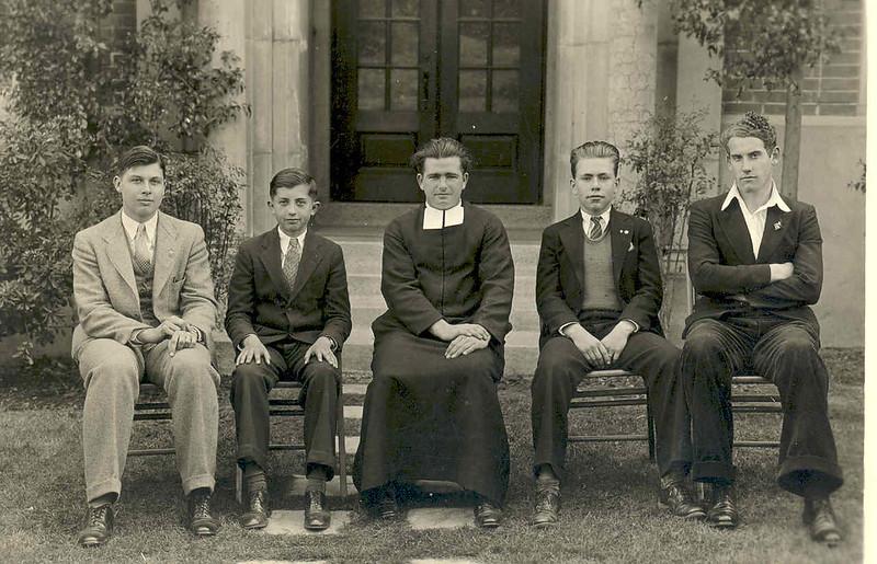 Br. Justin Sullivan (and soon to be Br. Brendan) 1935 Librar.jpg