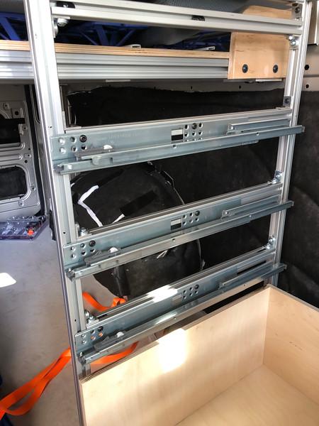 Blum drawer sliders