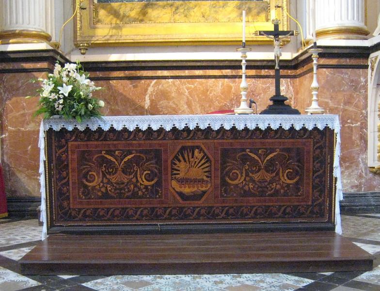 Valldemosa, Spain - Carthusian Monstary (altar)