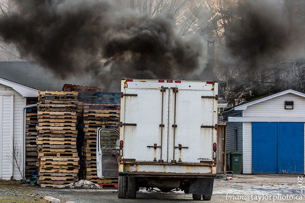 Truck Fire, Centerville, Nova Scotia. April 9, 2017