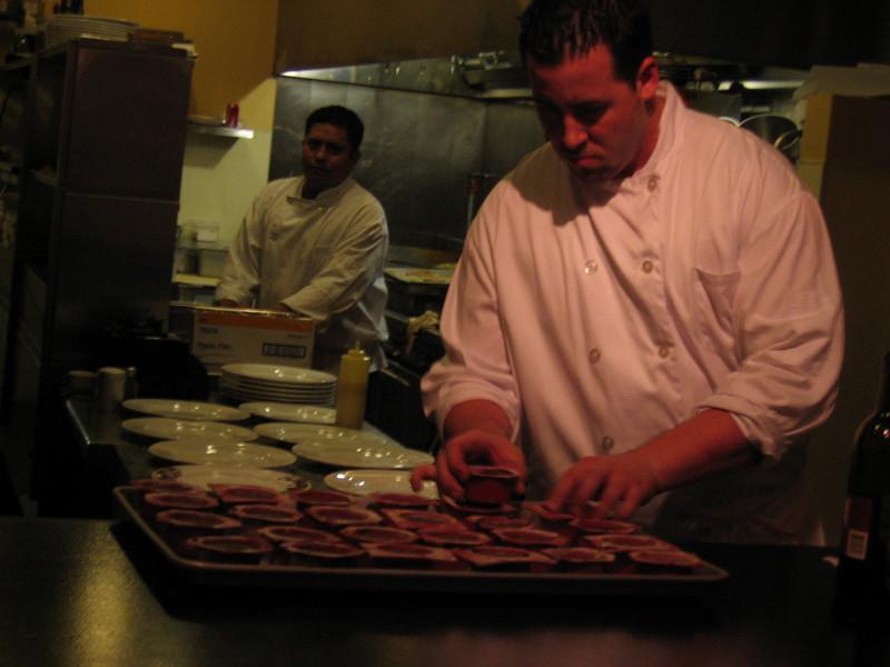 Chef Thomas Ricci preparing something...