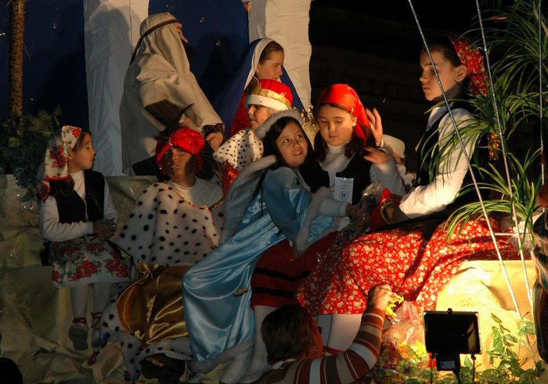 Little Girls at Festival of Three Kings - Cadiz, Spain