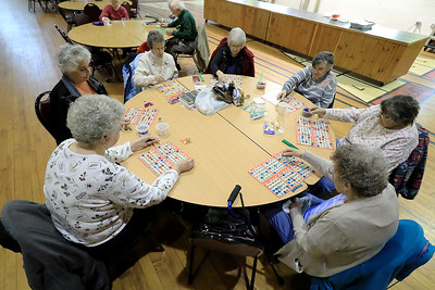 Bingo at Fitchburg Senior Center, January 16, 2019