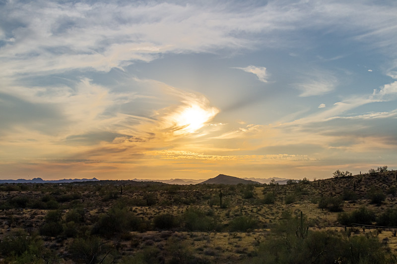 A sunset over the Sonoran Desert