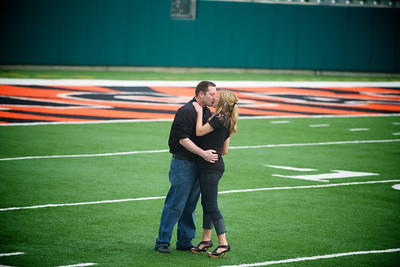Kelly and Andy's Touchdown Engagement