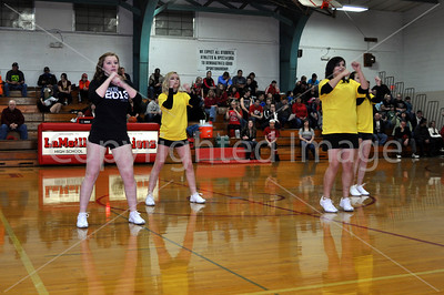 LaMoille-Ohio Boys Basketball, Feb. 12, 2013, Senior Night, Mini Cheer, and Biddy Basketball