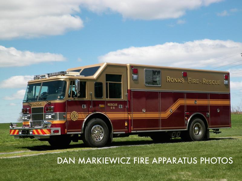 RONKS FIRE CO. RESCUE 4-8 1997 PIERCE HEAVY RESCUE