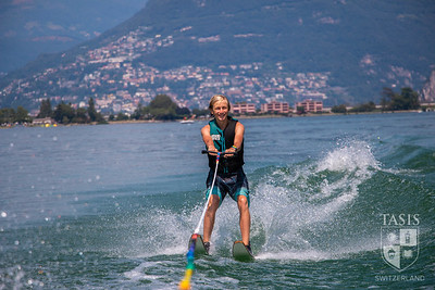 Waterskiing on Lake Lugano