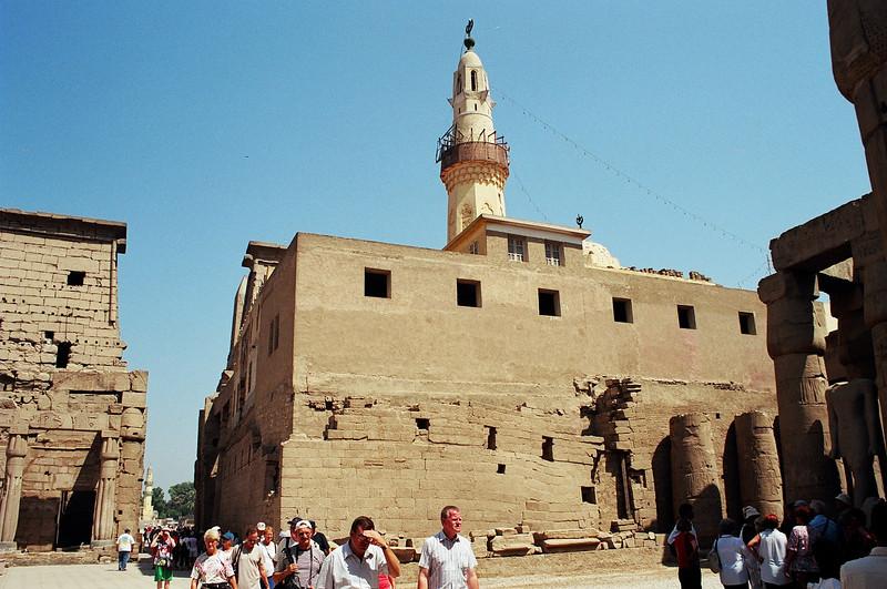 Luxor temple: 13th-century Mosque of Abu al-Haggag.
