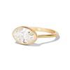 1.17ct Antique Moval Cut Diamond Bezel Ring, GIA E SI1 0