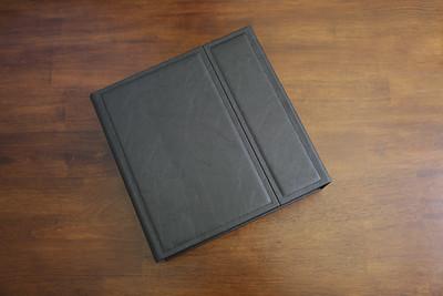 Wedding Album - Black Leather 10x10 w Box